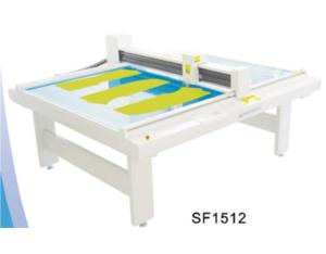 SF1512 die cut flat bed costume cutter machine plotter