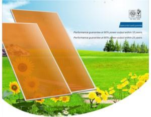 Thin film solar panels,amorphous thin film solar modules,BIPV,BAPV