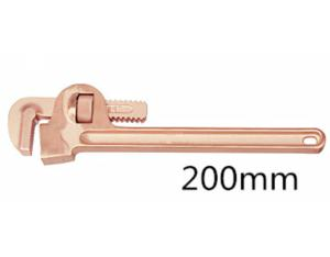 Non sparking beryllium bronze alloy pipe wrench