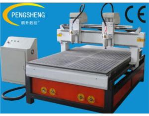 Metal cnc router with two spindles