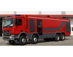 Maximal power water-foam fire fighting vehicle