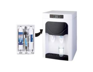 Counter top hot and cold water filter purifier