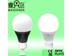 270° 7W LED bulb plastic +aluminum