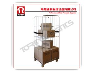 Industrial metal steel wire mesh cargo storage roll container