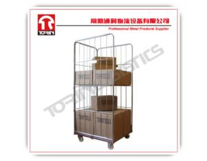 supermarket warehouse folding metal storage trolley