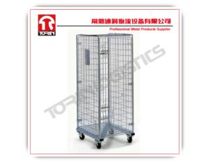 High quality logistic galvanized foldable rolling containers