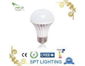 7W ceramic+glass LED bulb light
