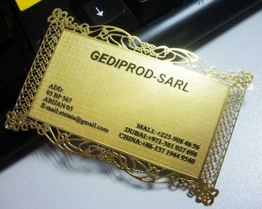 Metal Business / Brass Business Card / Gold Card / Golden Card