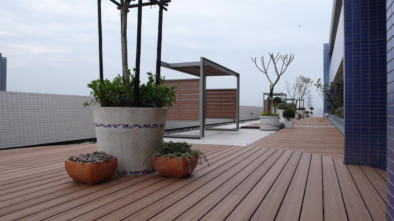 WPC Garden Decking Flooring