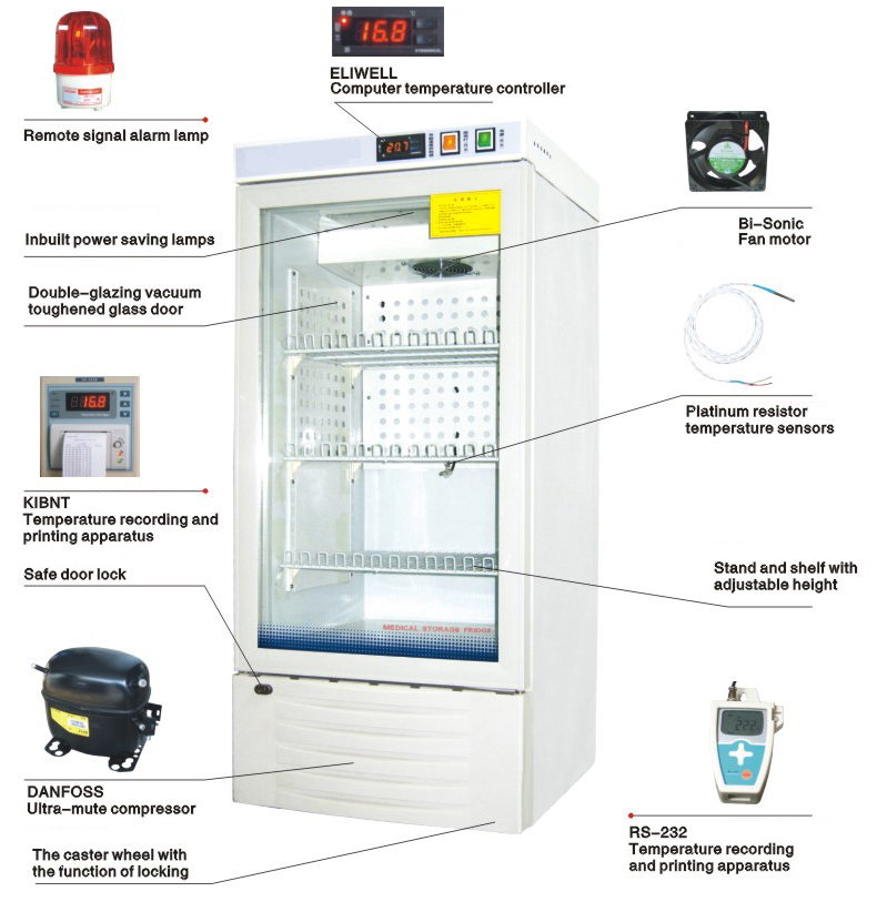 Medical Storage Fridge  Medicine Refrigerator (MSF 120/170/210/238/255/260)