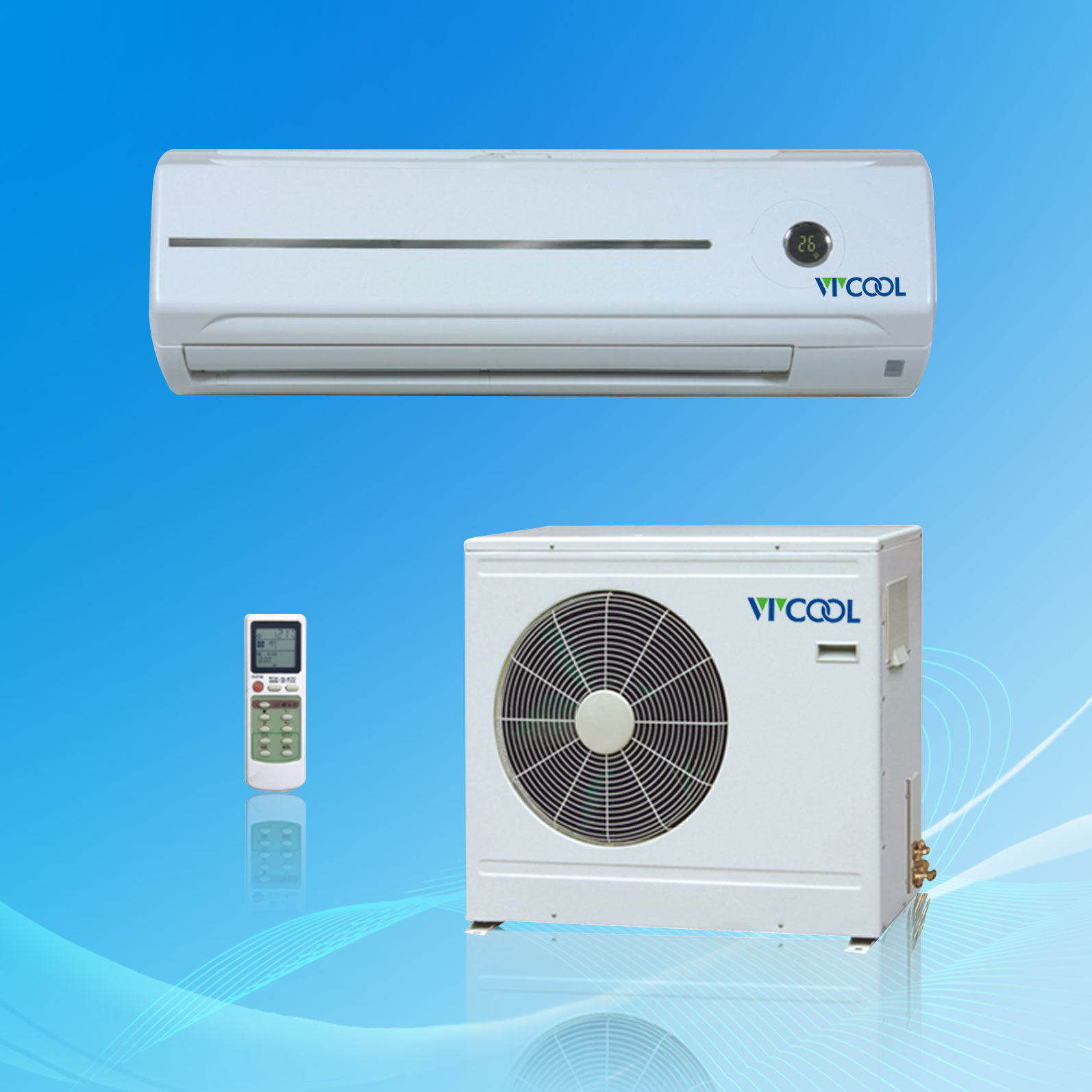 Wall split type air conditioner r22 60hz e model for Split type ac
