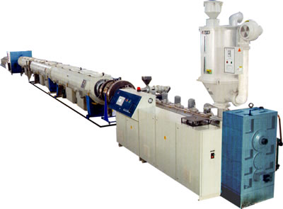 Hdpe gas and water pipe extrusion line for Water line pipe material