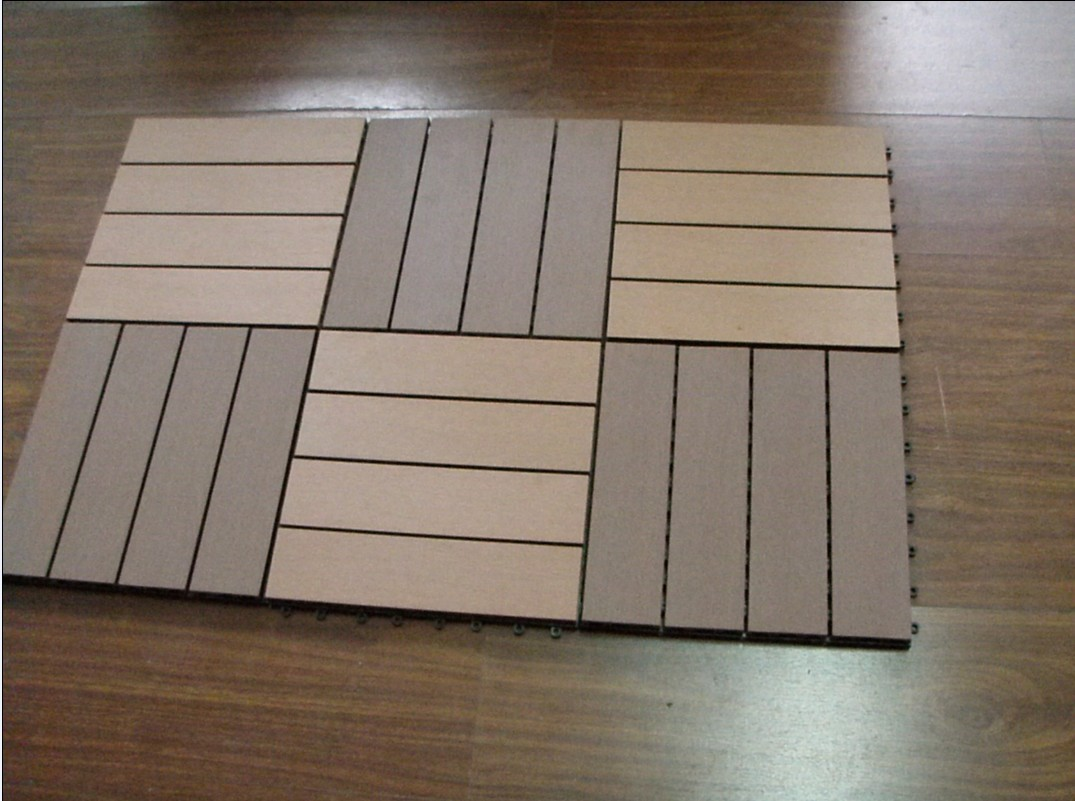 Wood plastic composite decking diy garden decking for Composite flooring for decks