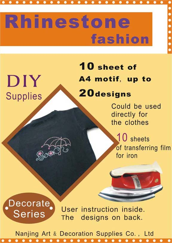 Rhinestone On Cloth DIY Set (Decoration series)
