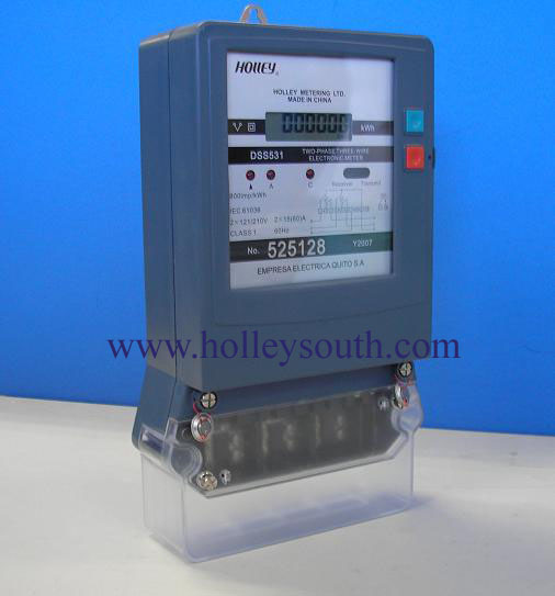 Secondary Electric Meter : Two phase three wire electric meter dss
