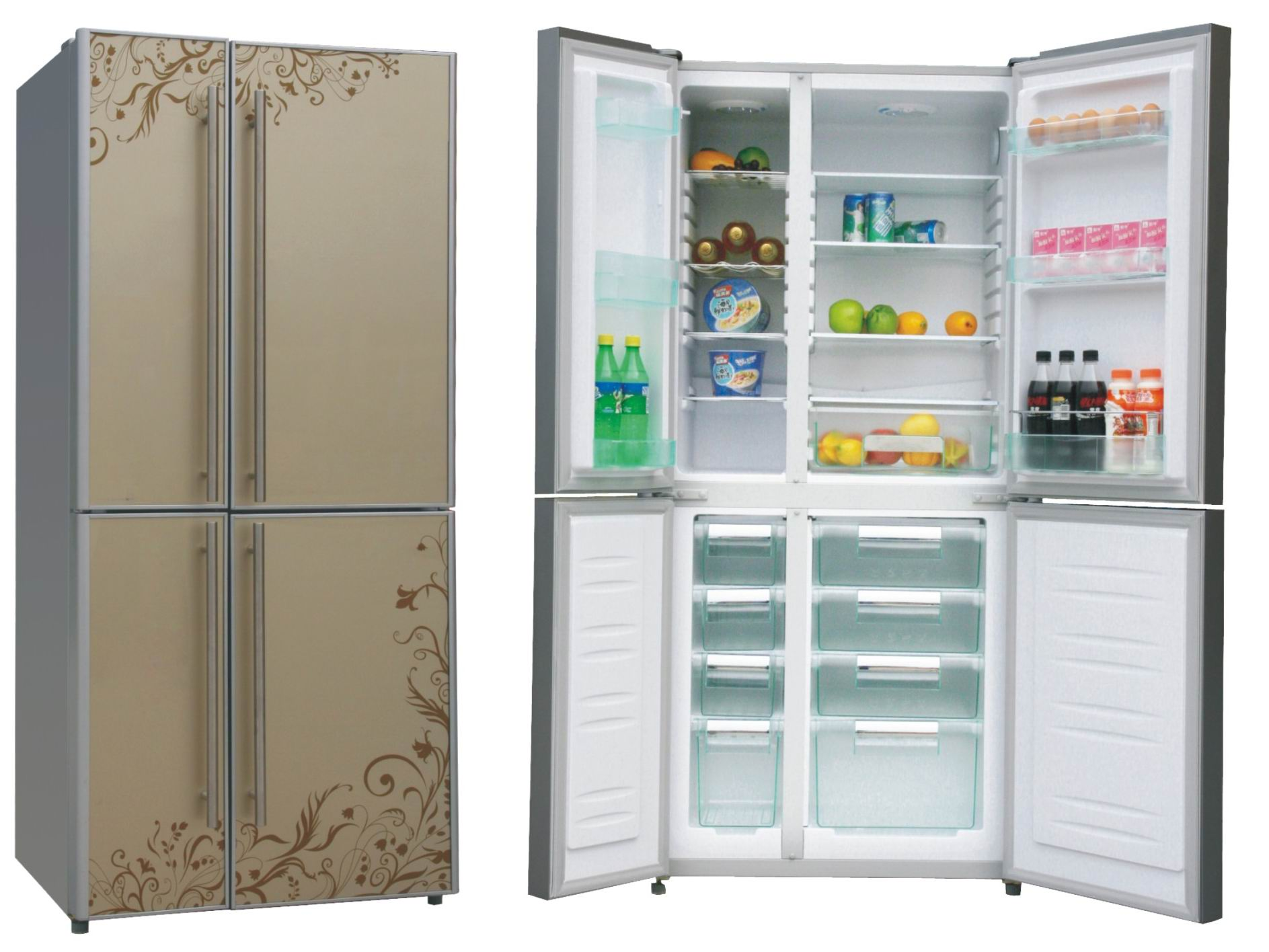 Side By Side Refrigerator Folio Double Door Bcd 358dgc Sy