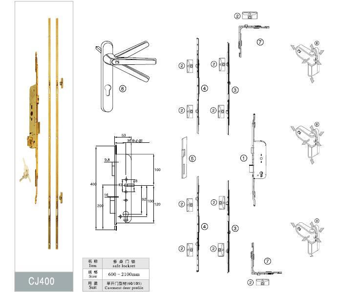 Multi Point Lock Set Cj400