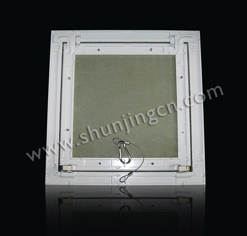 Locking Access Doors And Panels : Gypsum access panel with pushing lock wire hook and seal