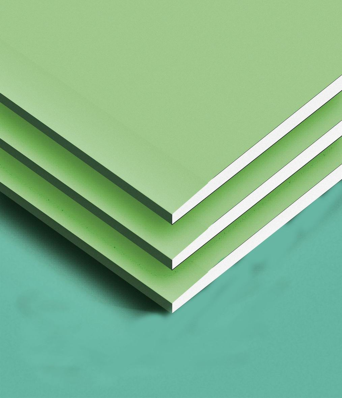 Gypsum Wall Board ~ Moisture resistant gypsum board
