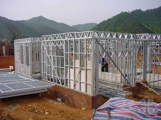 Light steel homes prefabricated home for Cheapest construction method