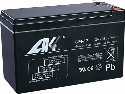 Automobile Battery 6fm7 12v7ah 20hr