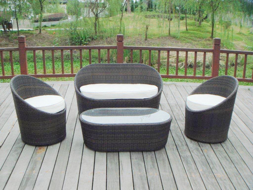 Garden Chair Set Part - 44: Garden Sofa Set (S0036)