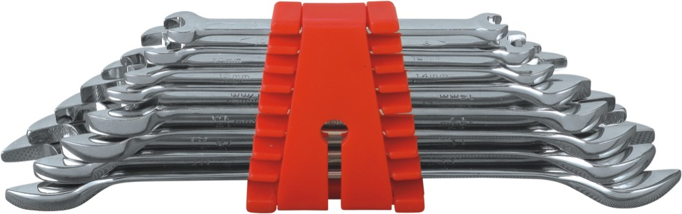 Db double open end spanner wrench set plastic rack