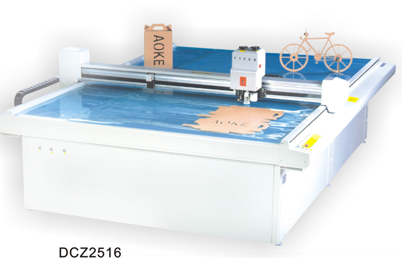 DCZ2516 carton box die cut plotter sample flat bed cutting machine